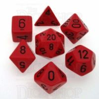 Chessex Opaque Red & Black 7 Dice Polyset