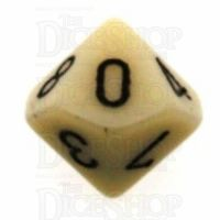 Chessex Opaque Ivory & Black D10 Dice