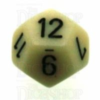 Chessex Opaque Ivory & Black D12 Dice
