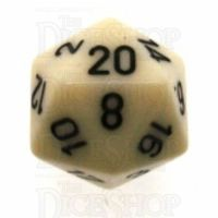 Chessex Opaque Ivory & Black D20 Dice