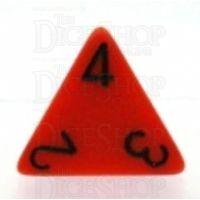Chessex Opaque Orange & Black D4 Dice