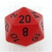 Chessex Opaque Red & Black D20 Dice