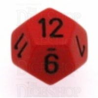 Chessex Opaque Red & Black D12 Dice