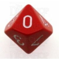 Chessex Opaque Red & White D10 Dice