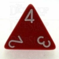 Chessex Opaque Red & White D4 Dice