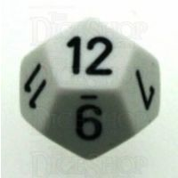 Chessex Opaque White & Black D12 Dice