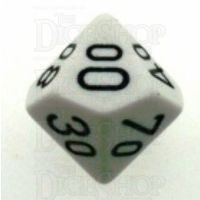 Chessex Opaque White & Black Percentile Dice