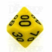 Chessex Opaque Yellow & Black Percentile Dice