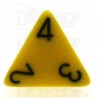 Chessex Opaque Yellow & Black D4 Dice