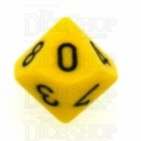 Chessex Opaque Yellow & Black D10 Dice