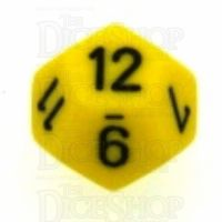 Chessex Opaque Yellow & Black D12 Dice