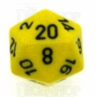Chessex Opaque Yellow & Black D20 Dice