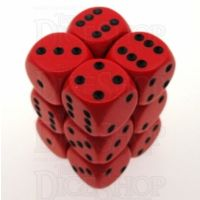 Chessex Opaque Red & Black 12 x D6 Dice Set