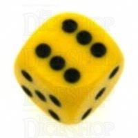 Chessex Opaque Yellow & Black 16mm D6 Spot Dice