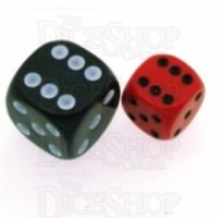 Chessex Opaque Red & Black 12mm D6 Spot Dice
