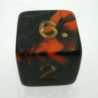 D&G Oblivion Orange & Black D6 Dice