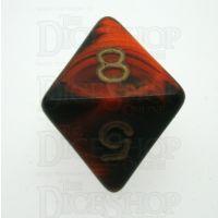 D&G Oblivion Orange & Black D8 Dice