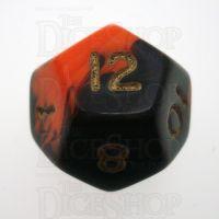 D&G Oblivion Orange & Black D12 Dice
