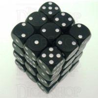 Chessex Opaque Black & White 36 x D6 Dice Set