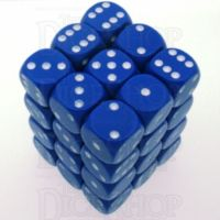 Chessex Opaque Blue & White 36 x D6 Dice Set