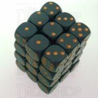 Chessex Opaque Dark Grey & Copper 36 x D6 Dice Set