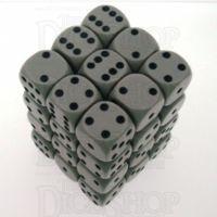 Chessex Opaque Grey & Black 36 x D6 Dice Set