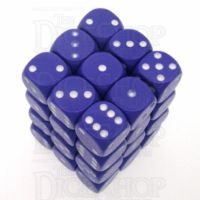 Chessex Opaque Purple & White 36 x D6 Dice Set