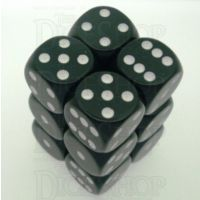 Chessex Opaque Black & White 12 x D6 Dice Set