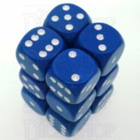Chessex Opaque Blue & White 12 x D6 Dice Set
