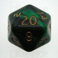 D&G Oblivion Green & Black D20 Dice