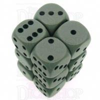 Chessex Opaque Grey & Black 12 x D6 Dice Set