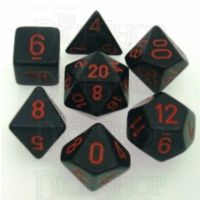 Chessex Opaque Black & Red 7 Dice Polyset