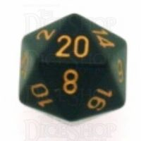 Chessex Opaque Black & Gold D20 Dice