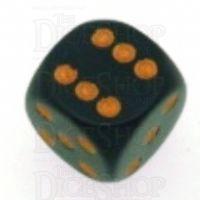 Chessex Opaque Black & Gold 16mm D6 Spot Dice