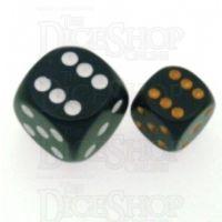 Chessex Opaque Black & Gold 12mm D6 Spot Dice