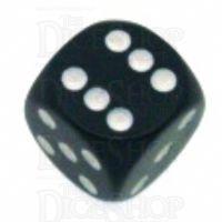 Chessex Opaque Black & White 16mm D6 Spot Dice