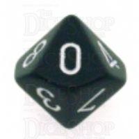 Chessex Opaque Black & White D10 Dice