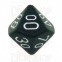 Chessex Opaque Black & White Percentile Dice
