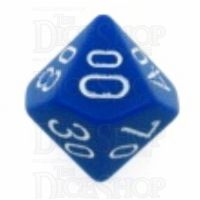 Chessex Opaque Blue & White Percentile Dice