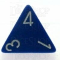 Chessex Opaque Blue & White D4 Dice