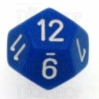 Chessex Opaque Blue & White D12 Dice