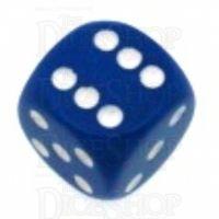 Chessex Opaque Blue & White 16mm D6 Spot Dice