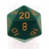 Chessex Opaque Dusty Green & Copper D20 Dice