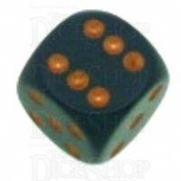 Chessex Opaque Dark Grey & Copper 16mm D6 Spot Dice