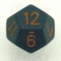 Chessex Opaque Dark Grey & Copper D12 Dice
