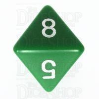 Chessex Opaque Green & White D8 Dice