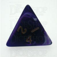 D&G Marble Purple & White D4 Dice