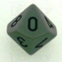 Chessex Opaque Grey & Black D10 Dice