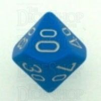 Chessex Opaque Light Blue & White Percentile Dice