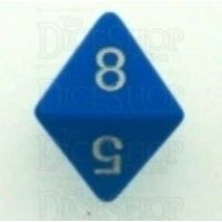 Chessex Opaque Light Blue & White D8 Dice